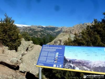 La Camorza-La Pedriza; rutas y senderismo caminatas marcas ropa montaña